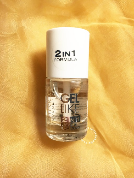 gel like base coat & top coat catrice review