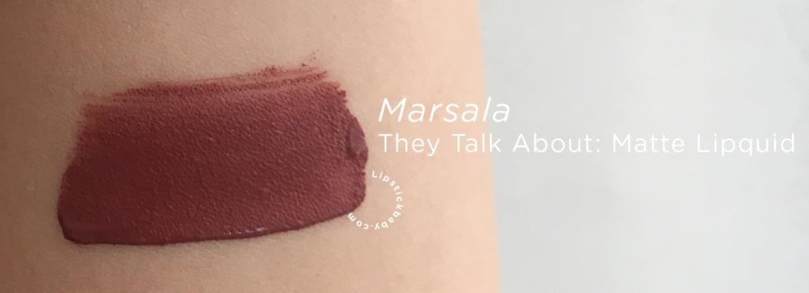 Marsala They Talk About liquid lipstick swatch copy