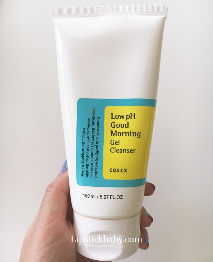 good morning cleanser low ph bottle